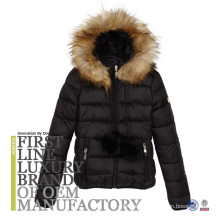 Kids Big Girls' Quilted Down Puffer Jacket Parka Fur Hoodie Outwear Outfit Long Coat Winter Wear