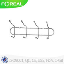 Metal 4-Hook Rack Toalhas Clothes Wall Hanger