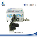 Máquina automática de corte, descascamento e torção de fios