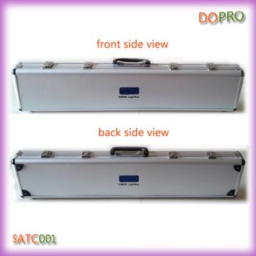 Plata caja de superficie de plástico duro caja de herramientas de aluminio largo (satc001)