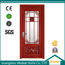 French Style Wooden Full Lite Glass Door for Residential Usage