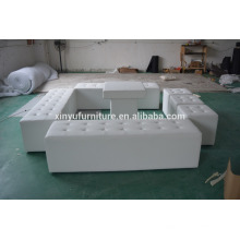 white event sectional ottoman for rental XW1011-1                                                                         Quality Choice