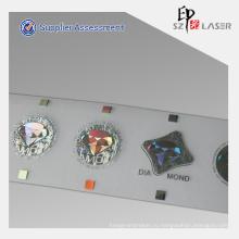Серебряный металлизированная Голограммы горячего тиснения этикетки в рулоне пакет