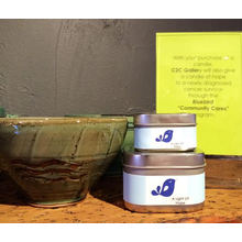 Vela perfumada de cera de soja en caja de hojalata cuadrada