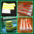 highly reflective safety slap wrap hook and loop armband with two straps under CE EN 13356