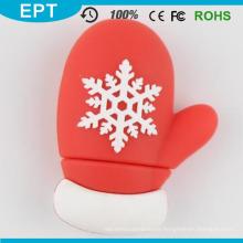 Weihnachtsgeschenk Handschuhe Form USB Flash Pendrive mit Schnee (TG129)