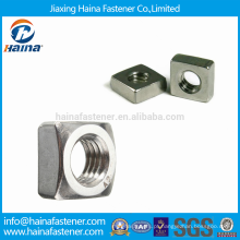 Em estoque alta qualidade em aço inoxidável A2-70 porcas quadradas com DIN557