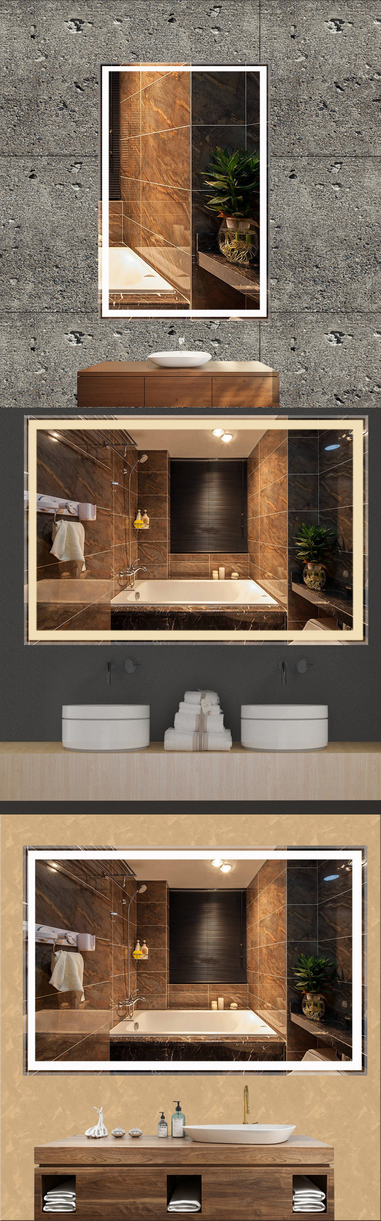 Bathroom Mirror Light UpofApplication Makeup Mirror With Led Lights