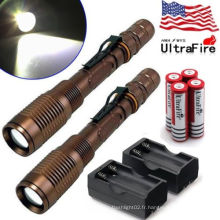 Vente en gros Rechargeable police security led flashlight