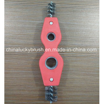 Two Holes Stainless Steel Wire Tube Industrial Brush (YY-532)