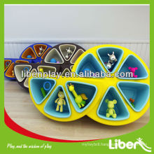 2014 new design Plastic Kids Book Display, school Plastic Kids furniture in Fruit shape LE.SK.023