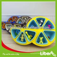 2014 new design Plastic Kids Book Display, school Plastic Kids furniture in Fruit shape LE.SK.023