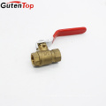 GutenTop High Quality 3/8inch FxF T-Handle Brass Ball Valve Water Steam Gas Industrial Use Hot Forged Full Port Export American