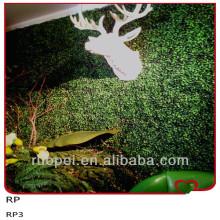 China Conversão artificial decorativa interna do boxwood / parede verde artificial