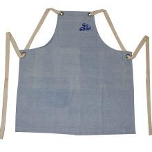 delantal de jean y taller de carpintero delantal