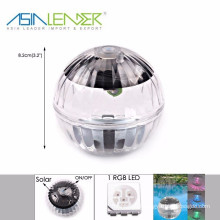 Sun Solar Power LED Color Changed Globe Waterproof Floating Light