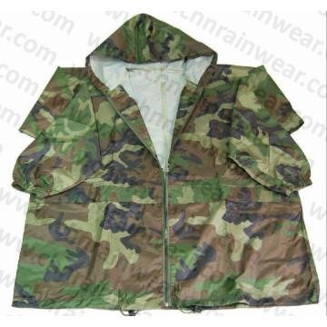 Military Camouflage Waterproof PVC Rain Jacket