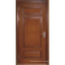 Resistencia al fuego Puertas clasificadas, Dormitorio del hotel Puerta contra incendios Puerta contra incendios de madera maciza Calidad Opción