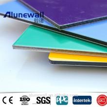 Alunewall A2 B1 panneau composite ignifuge en aluminium d'acp de couleur pour la décoration de mur