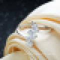 Bague d'ouverture de mariage diamant en argent sterling 925 avec zircon