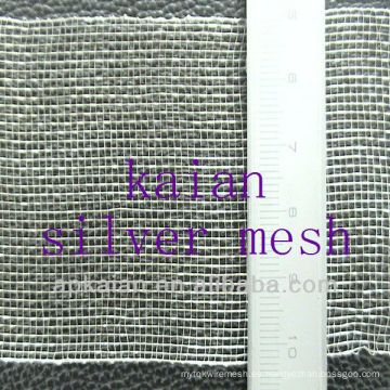 Malla de alambre tejido de plata pura