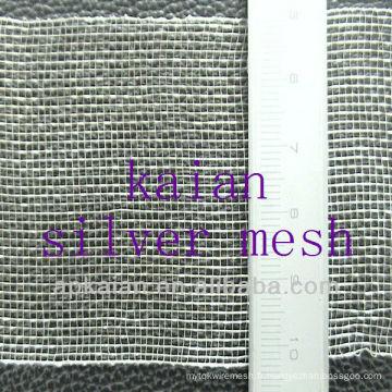 Tissu en treillis métallique tissé en argent de 0,2 à 200 mesh