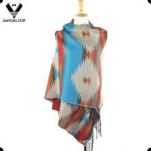 Последний многоцветный шарф из жаккардового ацтекского шарфа