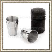 1-15oz acero inoxidable conjunto de vasos de chupito whisky