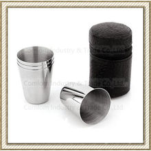 1-15oz Stainless Steel Whiskey Shot Glasses Set