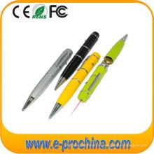 (TD03) Laser Taschenlampe Kugelschreiber Kugelschreiber Form USB Flash Drive
