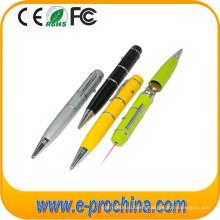 (TD03) Laser Flashlight Ballpoit Pen Shape USB Flash Drive