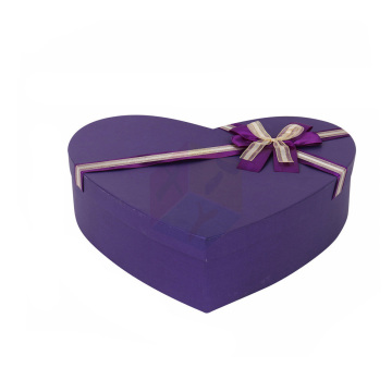 Wholesale Price for China Heart Shaped Gift Box,Fancy Heart Shaped Gift Box,Large Heart Shaped Gift Box Supplier Purple Cardboard Chocolate Rigid Gift Box export to Spain Manufacturers