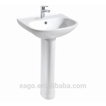 Pia de cerâmica EAGO alta qualidade com pedestal BD355E / ZA3550-F
