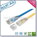AUCAS melhor qualidade cabo de rede ethernet / systimax amp passagem fluke flat patch cabo / cat5e utp rj45 cobre encalhado