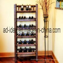 Carrinho prático da cremalheira do vinho de seis camadas / suporte de exposição do vinho