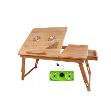 Escritorio de la computadora por encargo de bambú al por mayor con el ventilador del usb