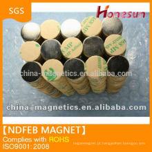 aglomerado de ndfeb permanente ímã permanente com adesivo D15x1mm N42