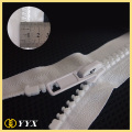 Shiny Silver Teeth No10 Memisahkan Ritsleting Plastik