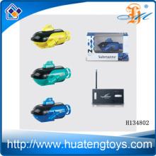 Mais novo plástico mini 4CH RC submarino 4channel controle remoto mini submarino H134802