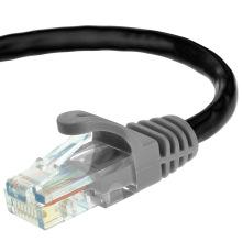 Cat5e UTP RJ45 Ethernet-кабель-патч-корд 15 футов черного цвета