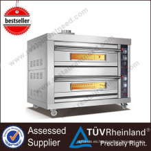 Profesional Heavy Duty Gas o Electric 9 bandejas Gas Deck Oven