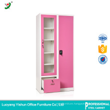 pink one drawer design steel baby kids wardrobe india