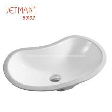 Lavabo de salle de bain évier en porcelaine commerciale en céramique