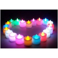 Venta al por mayor de la luz LED electrónica de la vela, día de tarjeta del día de San Valentín romántico, velas del cumpleaños