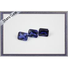 Модный комплект ювелирных изделий синтетический сапфир
