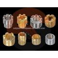 Insertos de moldeo de latón para accesorios de tuberías PPR, CPVC, UPVC, PVC