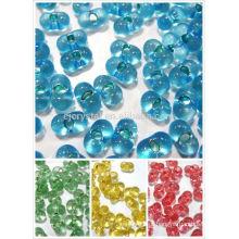 Contas de vidro para a fabricação de jóias, grânulos de vidro japão populares, contas lisas para jóias, mais recentes contas de vidro cubo