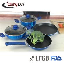 nuevo juego de utensilios de cocina forjados pintura metalizada