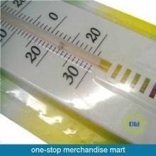 Rumah material plastik gantung termometer