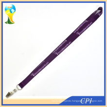 Sublimation Purple Lanyard with Crocodile Clip for ID